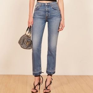 Reformation cynthia high relaxed jeans antigua